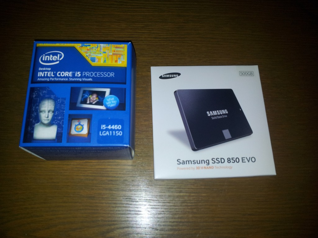 Intel i5 4460 3.2 GHz & Samsung 850 EVO 500GB