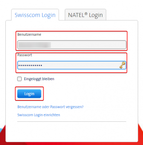 Swisscom Login